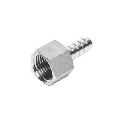 """Stainless Steel 1/2"""" FPT x 1/2"""" Hose Barb"""