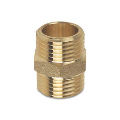 """Brass Hex Nipple 1/2"""" MPT"""