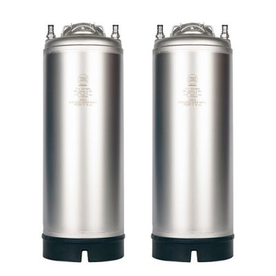 New AMCYL 5 Gallon Single Handle Ball Lock Kegs (2 Pack)