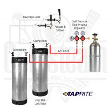 Used Keg Dual Faucet Dual Regulator Kit