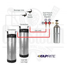 Used Keg Dual Picnic Dual Regulator Kit