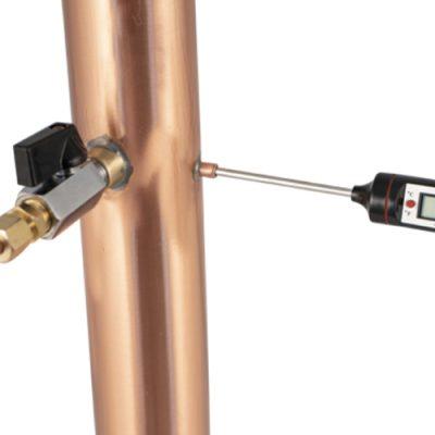 AlcoEngine Copper Reflux Condenser Probe Thermometer